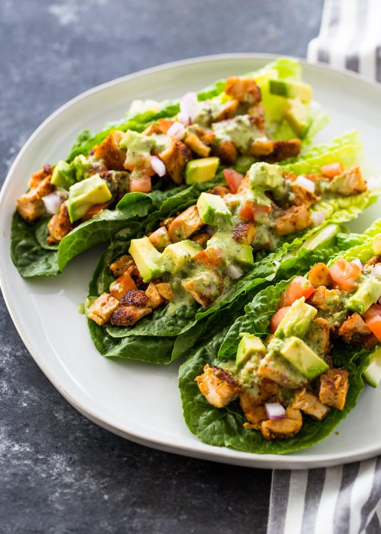 Healthy Keto Recipes  Chicken Taco Lettuce Wraps Low Carb Paleo Keto