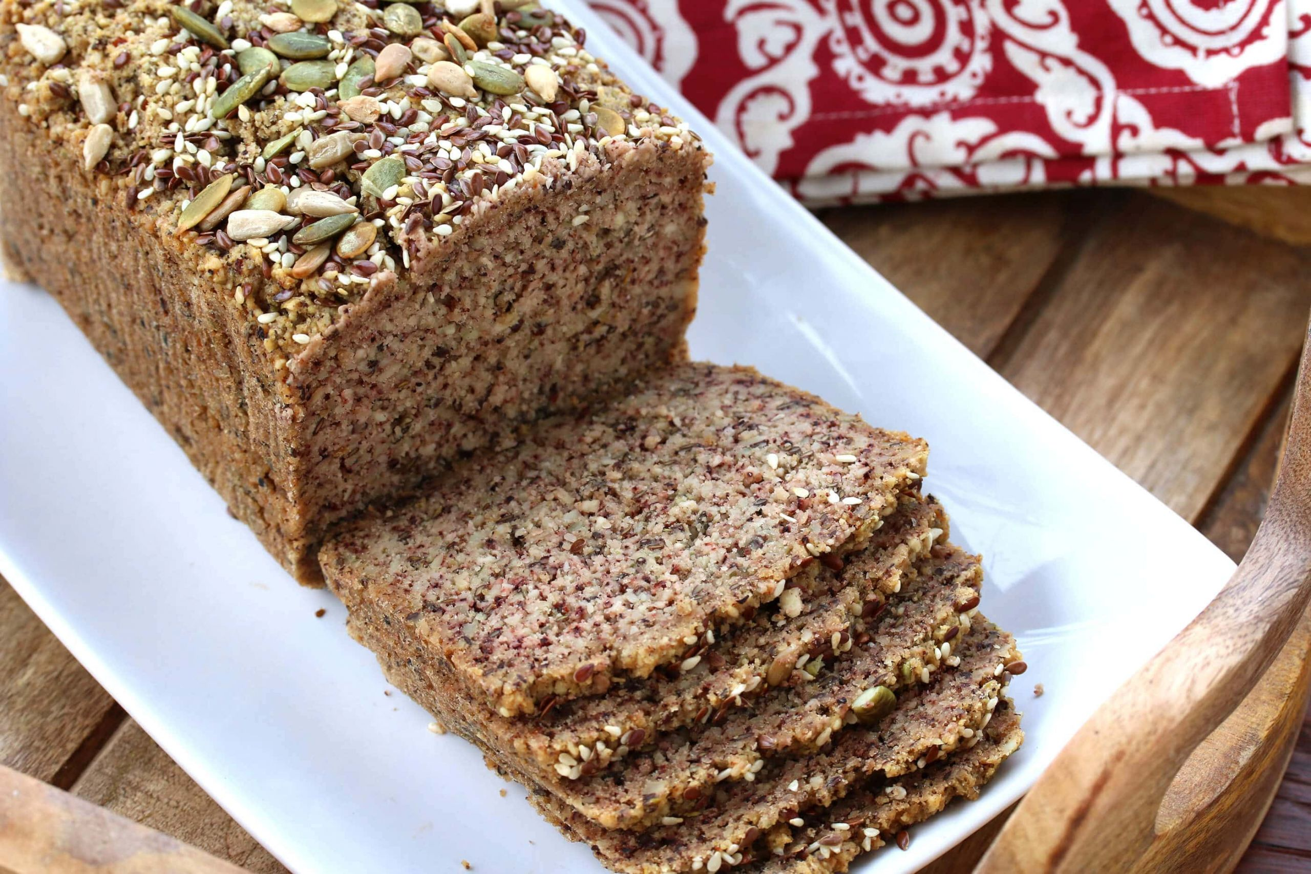 High Fiber Low Carb Bread  Low Carb High Protein Nut & Seed Bread Paleo The