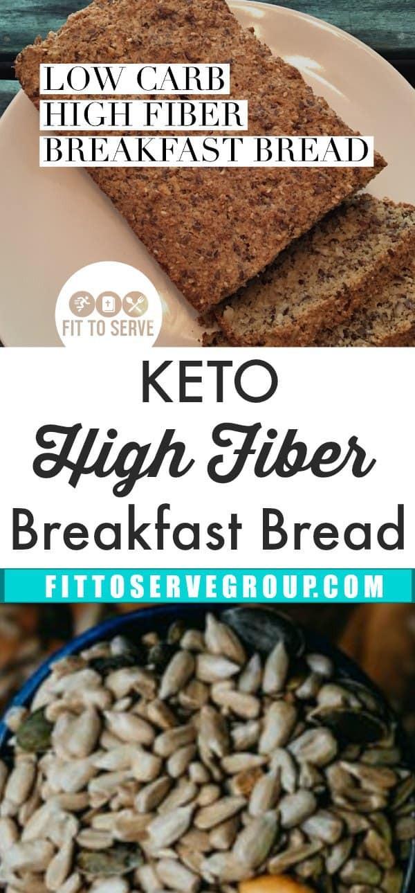 High Fiber Low Carb Bread  Best Tasting Low Carb High Fiber Breakfast Bread