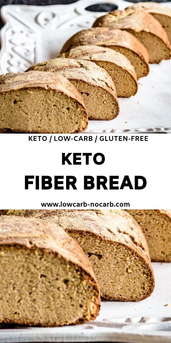 High Fiber Low Carb Bread  Pin by Patrick Francois on Keto Diet