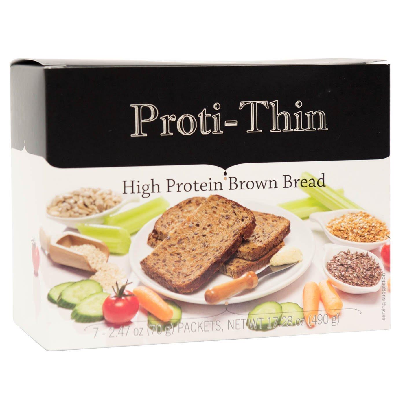 High Fiber Low Carb Bread  Proti Thin High Protein Brown Bread 15g Protein High