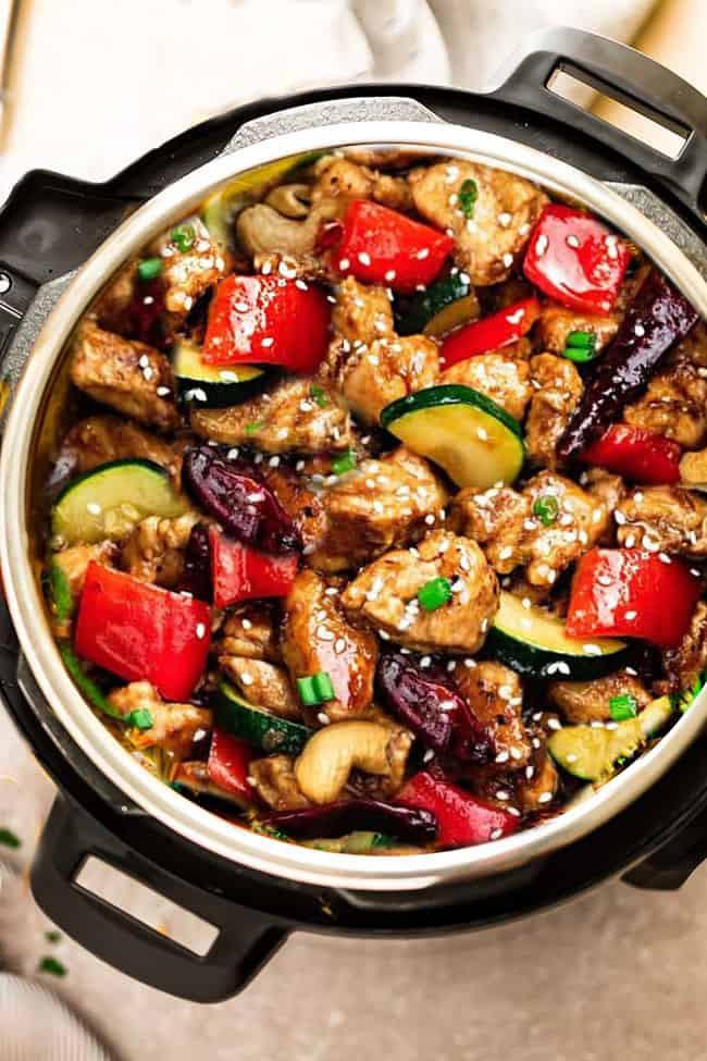 Insta Pot Keto Recipes  Instant Pot Kung Pao Chicken Low Carb Keto Paleo