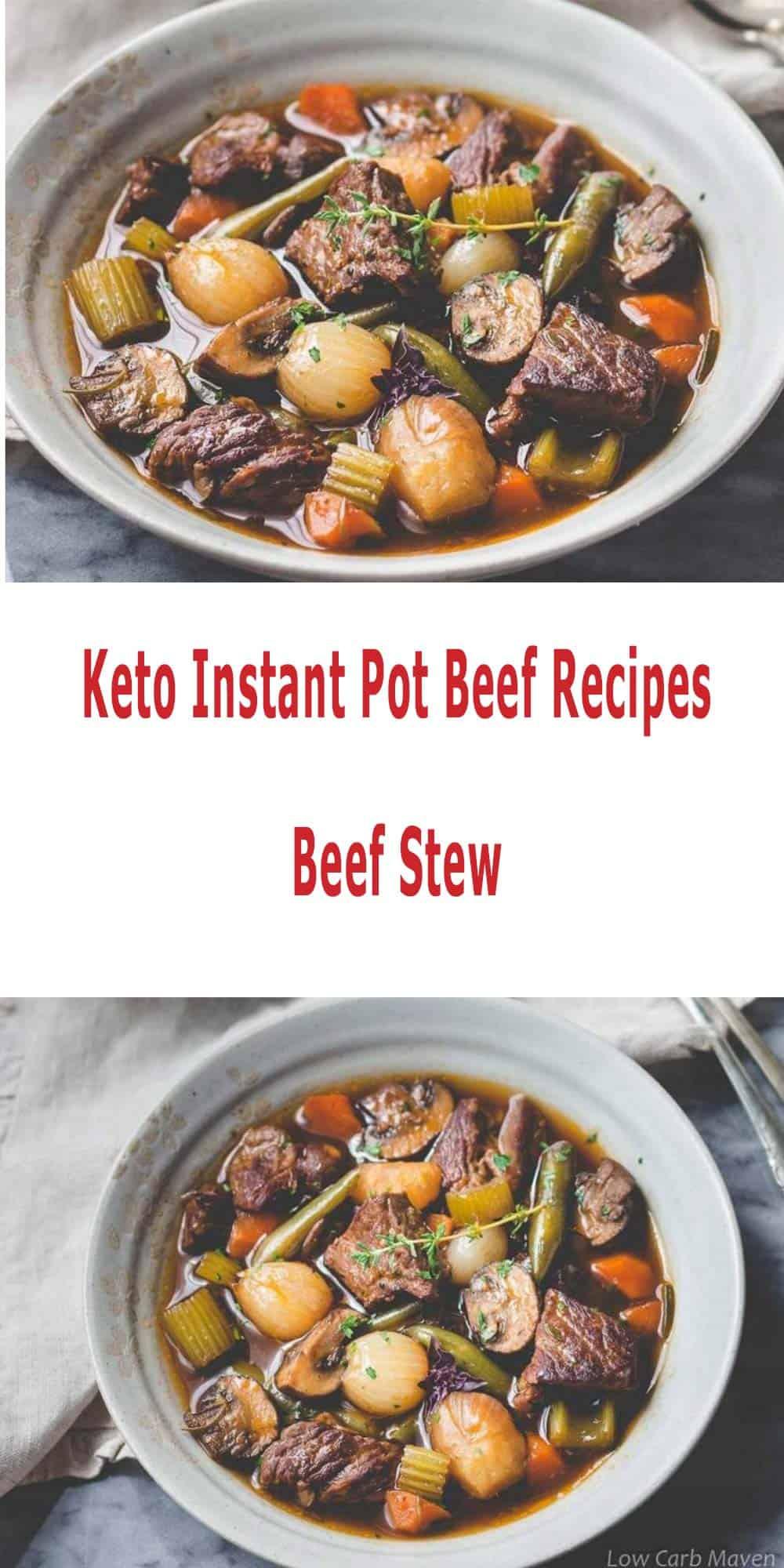 Instant Pot Beef Keto  keto instant pot beef recipes beef stew Keto Wiz