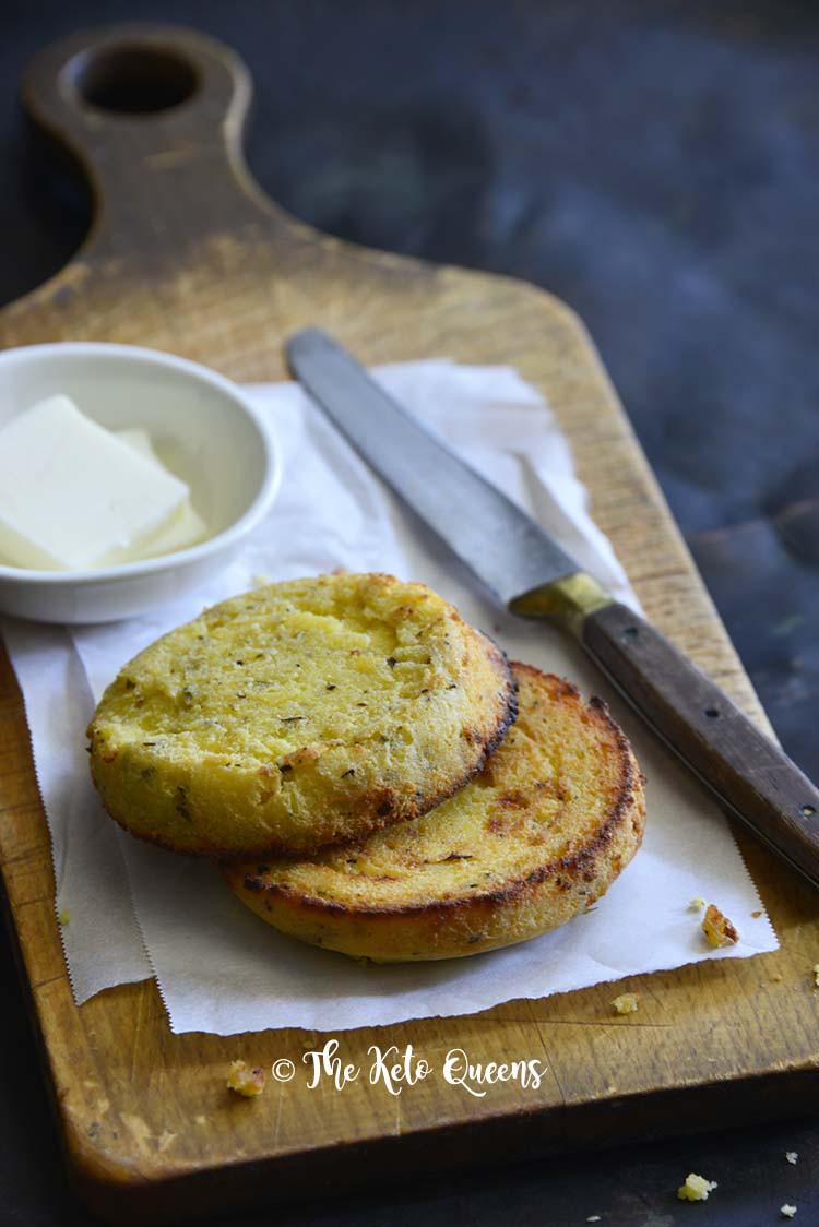 Instant Pot Keto Bread  Easy Instant Pot Keto English Muffin Low Carb Bread Recipe