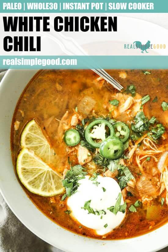 Instant Pot Keto Chicken Chili  Instant Pot White Chicken Chili Paleo Whole30 Keto