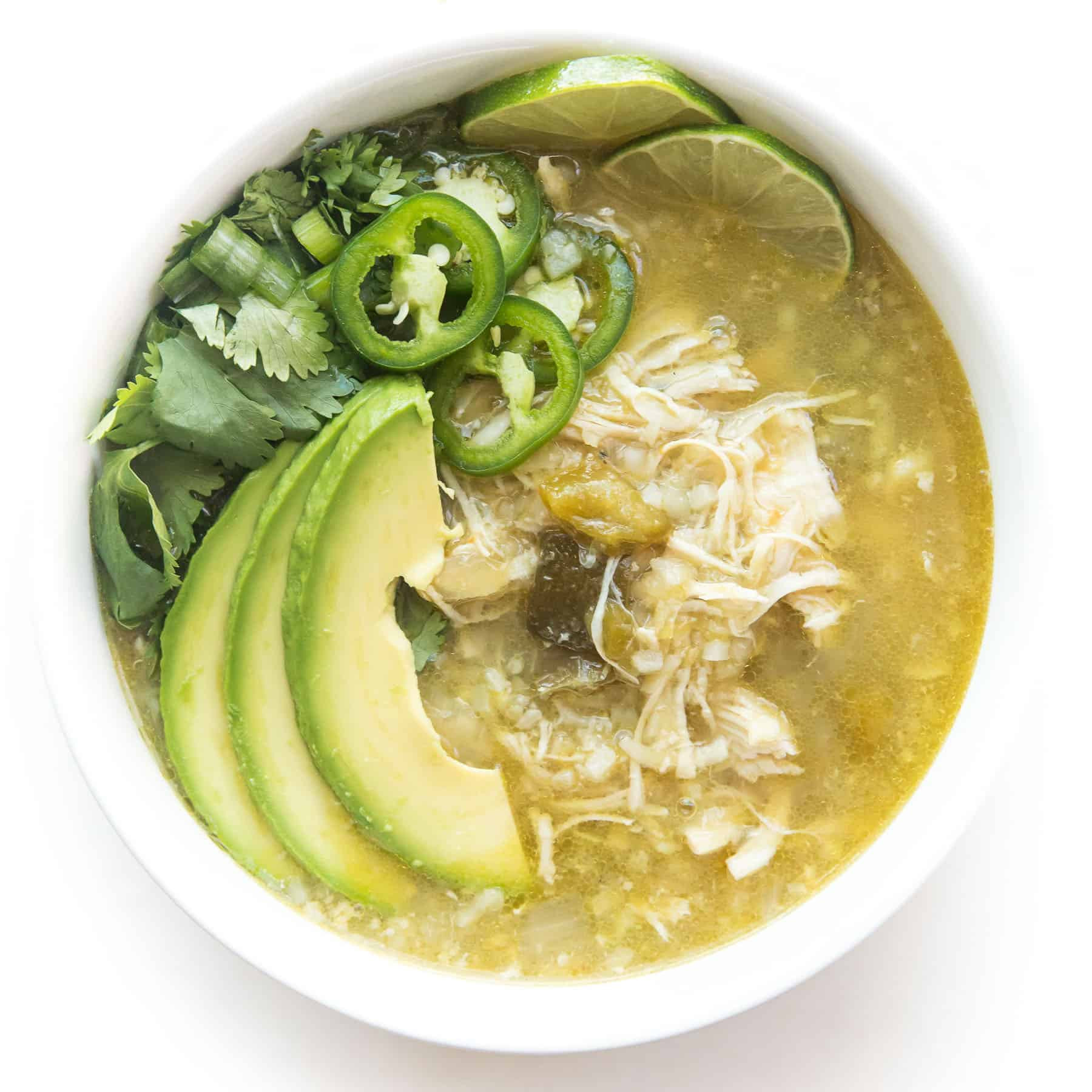 Instant Pot Keto Chicken Chili  Whole30 Keto Instant Pot Verde Chicken Chili Tastes Lovely