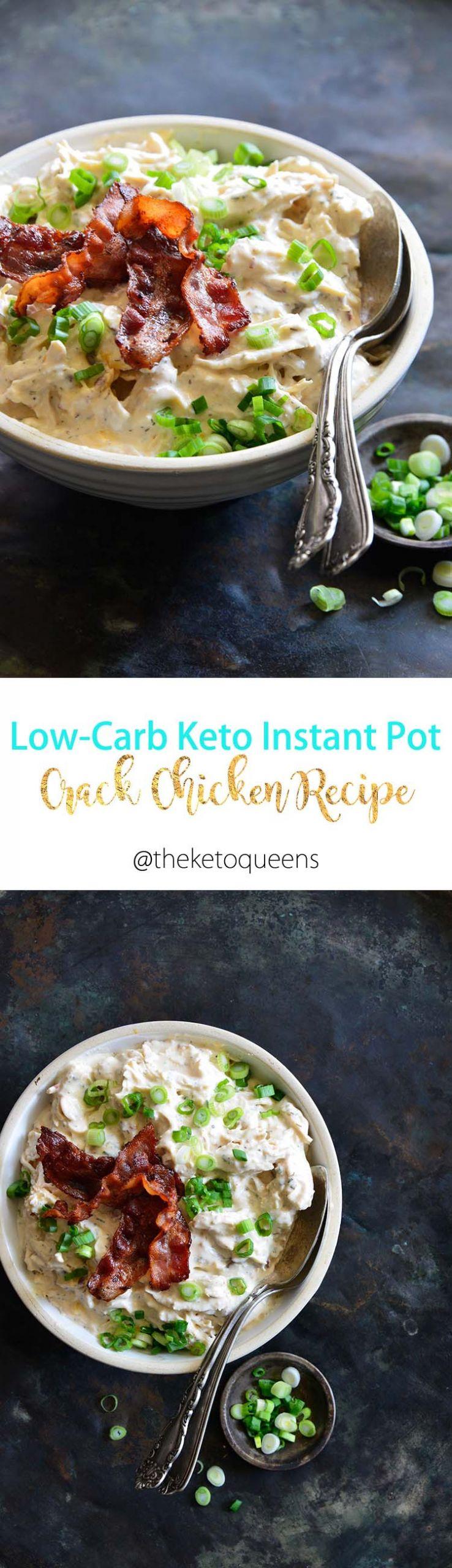 Instant Pot Keto Chicken Recipes Easy  Easy Keto Low Carb Instant Pot Crack Chicken Recipe