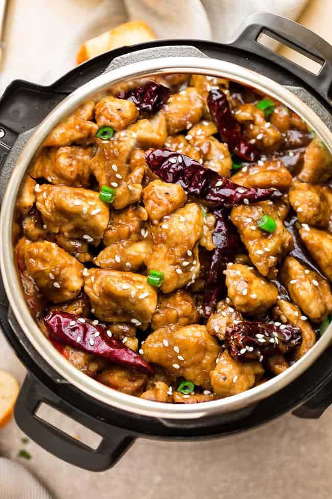 Instant Pot Keto Chicken Recipes Easy  Instant Pot General Tso s Chicken