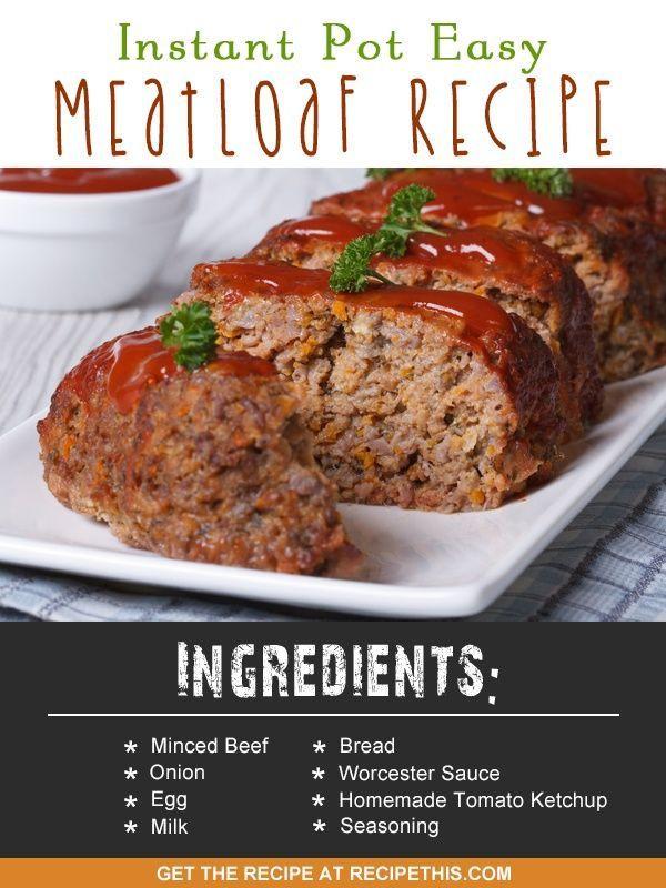 Instant Pot Keto Meatloaf  Instant Pot Easy Meatloaf Recipe