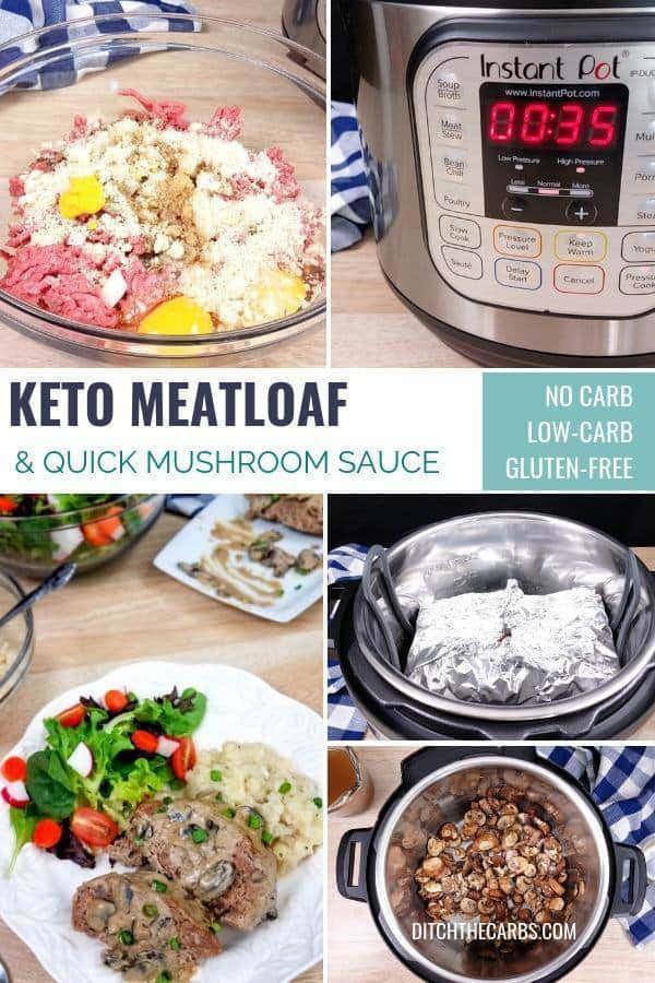 Instant Pot Keto Meatloaf  Keto Instant Pot Meatloaf VIDEO with Mushroom Gravy