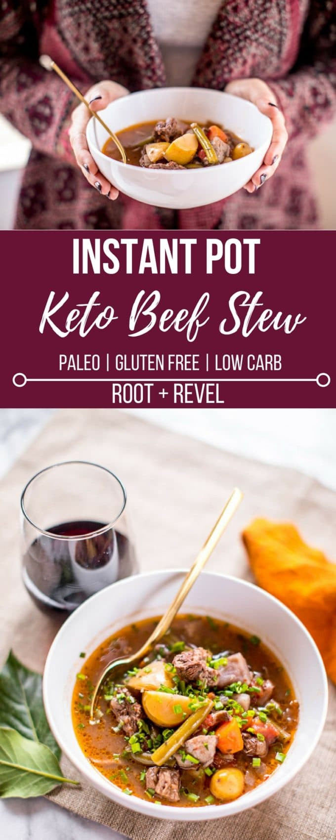 Instant Pot Keto Stew  Keto Beef Stew in the Instant Pot or Slow Cooker