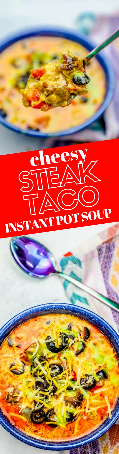 Instant Pot Keto Taco Soup  Low Carb Keto Easy Instant Pot Cheesy Steak Taco Soup Recipe