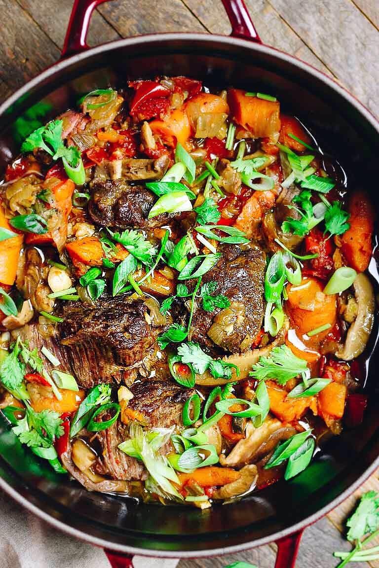 Instapot Keto Beef  Instant Pot Taiwanese Beef Stew Paleo Whole30 Keto