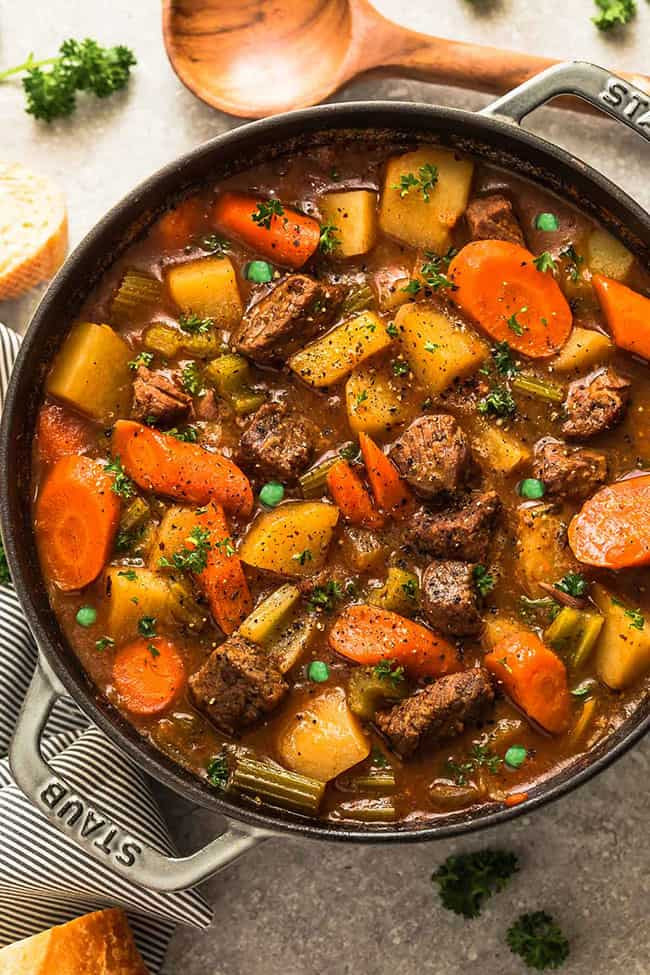 Instapot Keto Beef  Irish Beef Stew with Keto Options Instant Pot Recipe