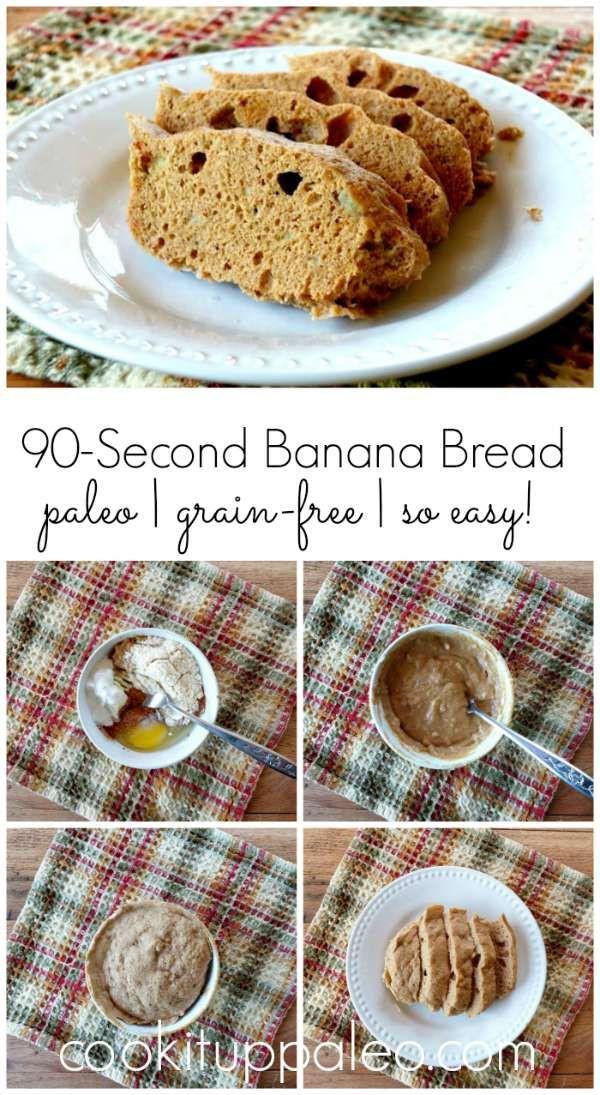 Keto Banana Bread Mug Cake  90 Second Paleo Banana Bread soft moist sweet fluffy