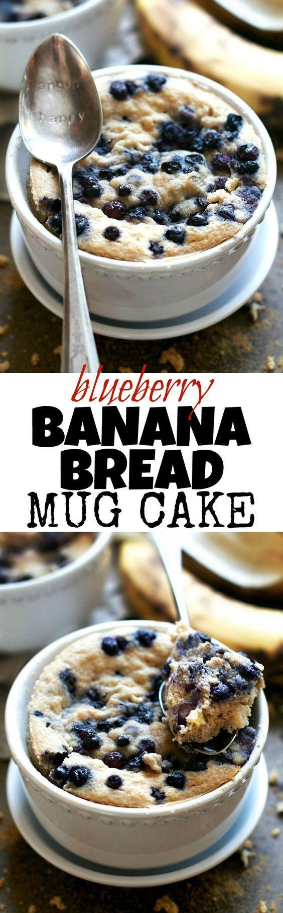 Keto Banana Bread Mug Cake  Blueberry Banana Bread Mug Cake