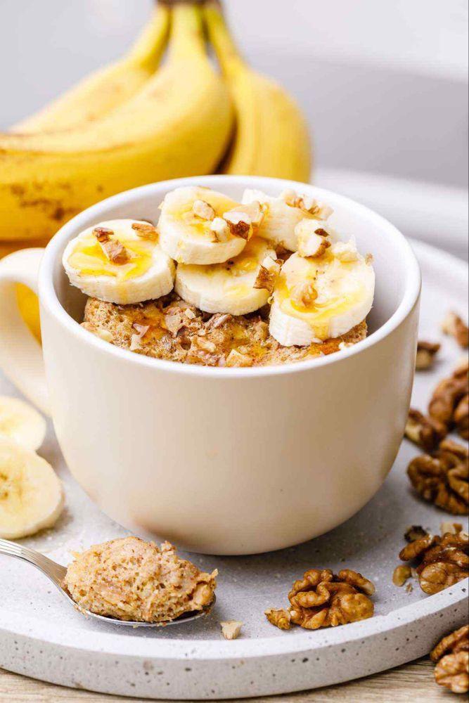 Keto Banana Bread Mug Cake  Easy and Addictive Cinnamon Banana Bread Mug Cake Yum