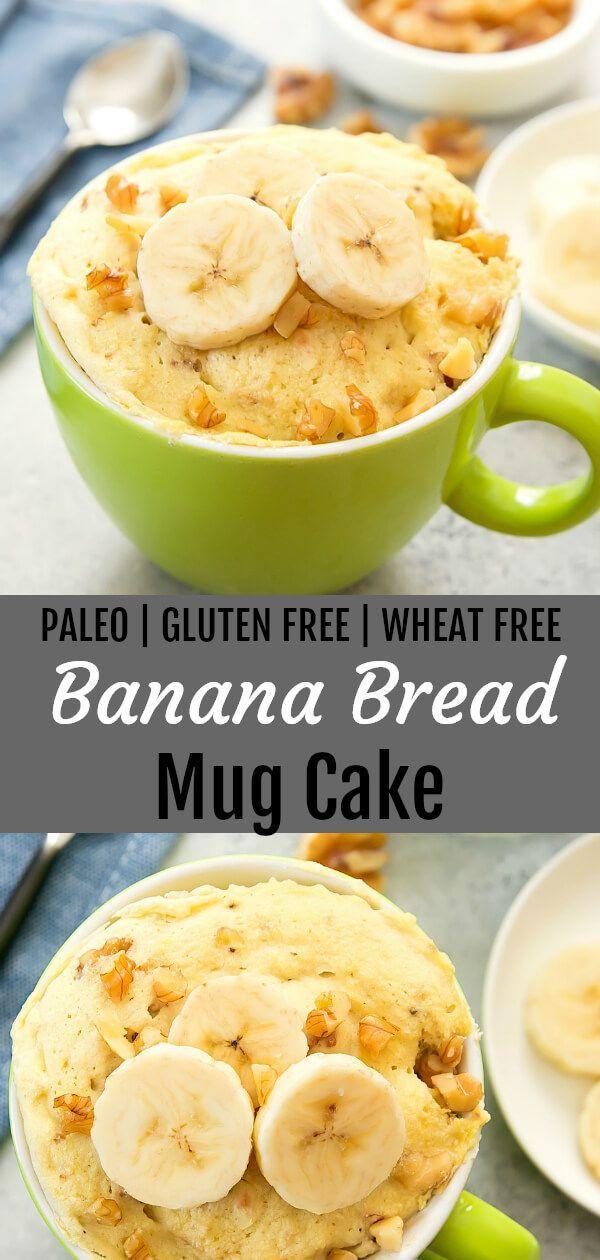 Keto Banana Bread Mug Cake  Banana Bread Mug Cake Paleo Recipe