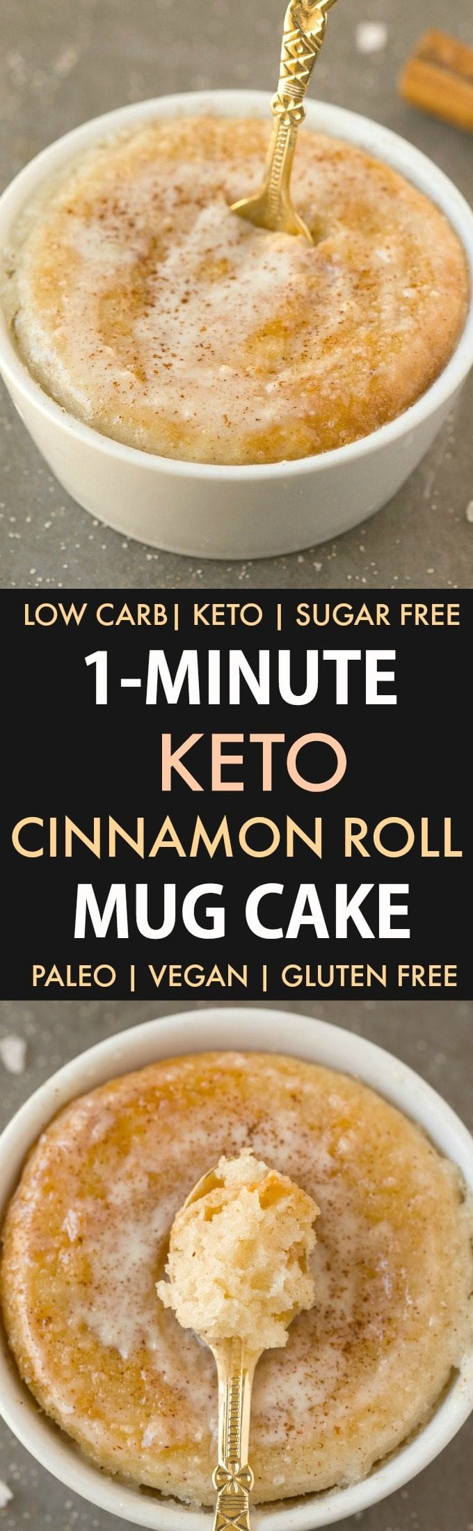 Keto Banana Bread Mug Cake  Healthy 1 Minute Low Carb Keto Mug Cakes Paleo Vegan