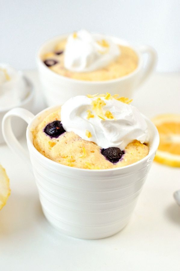 Keto Banana Bread Mug Cake  the BEST KETO LEMON MUG CAKE with blueberries An easy