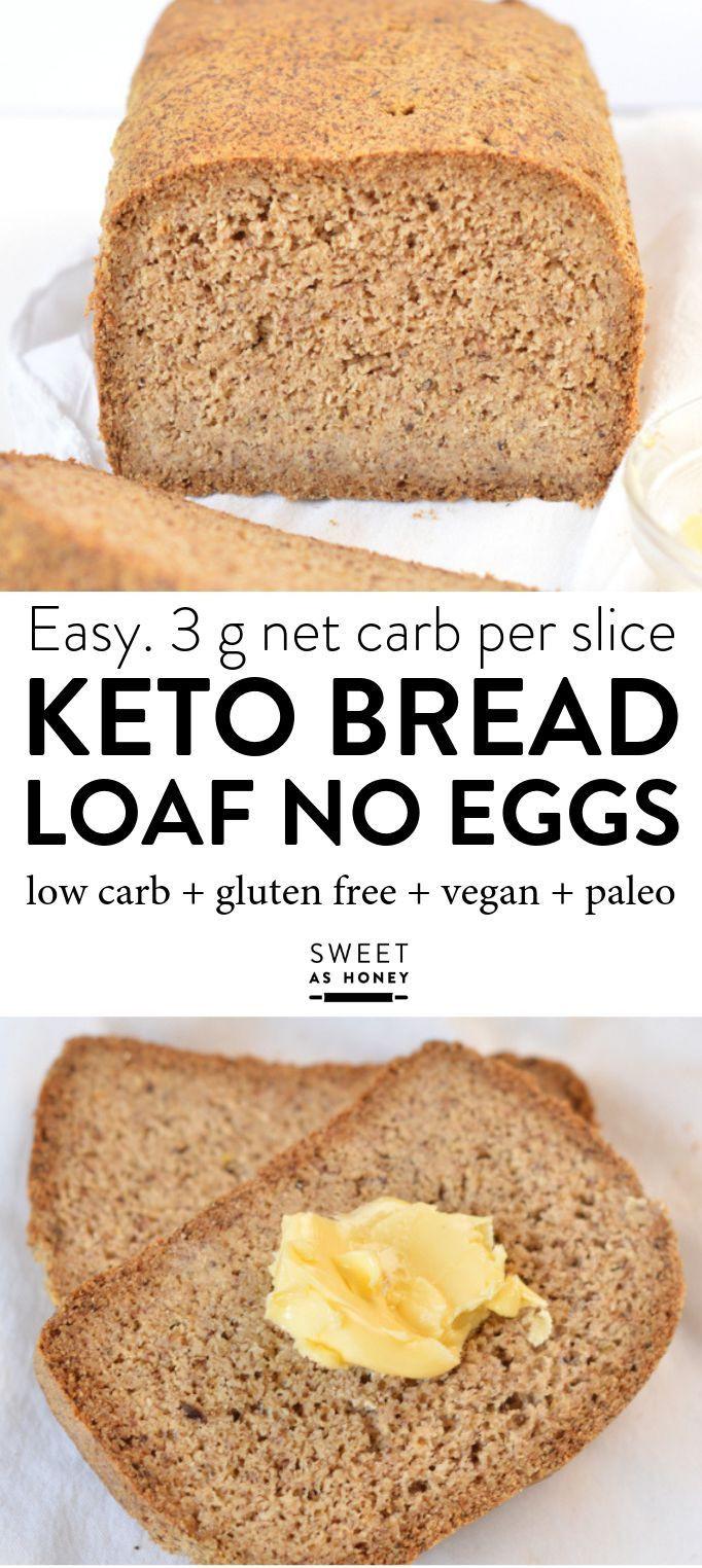 Keto Bread Almond Flour Psyllium  Keto bread loaf No Eggs Low Carb with coconut flour