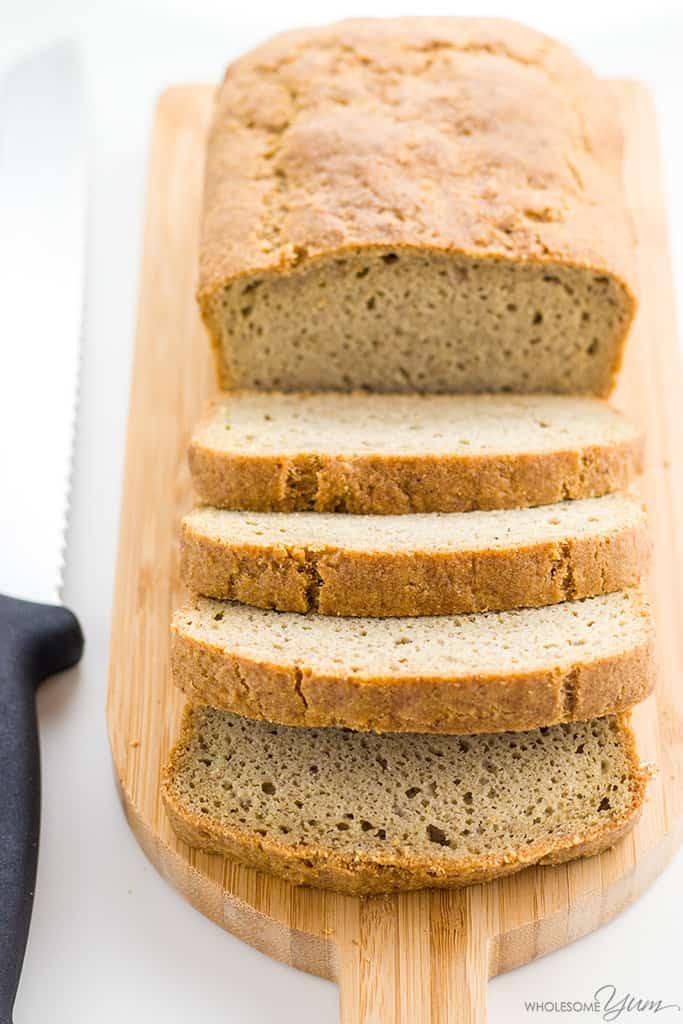 Keto Bread Almond Flour Psyllium  Wholesome Yum Almond Flour Bread Low Carb Keto