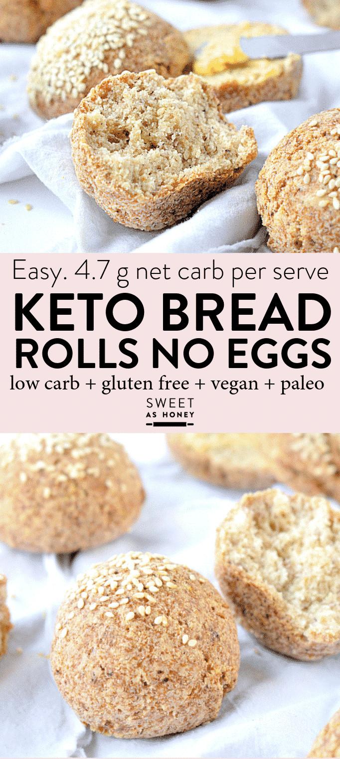 Keto Bread Rolls Coconut Flour  Keto Bread Rolls Vegan No Eggs Sweetashoney