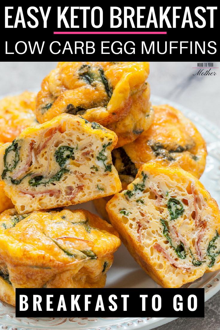 Keto Breakfast Recipes Easy On The Go  Easy Egg Keto Breakfast Muffins Low Carb Breakfast The Go