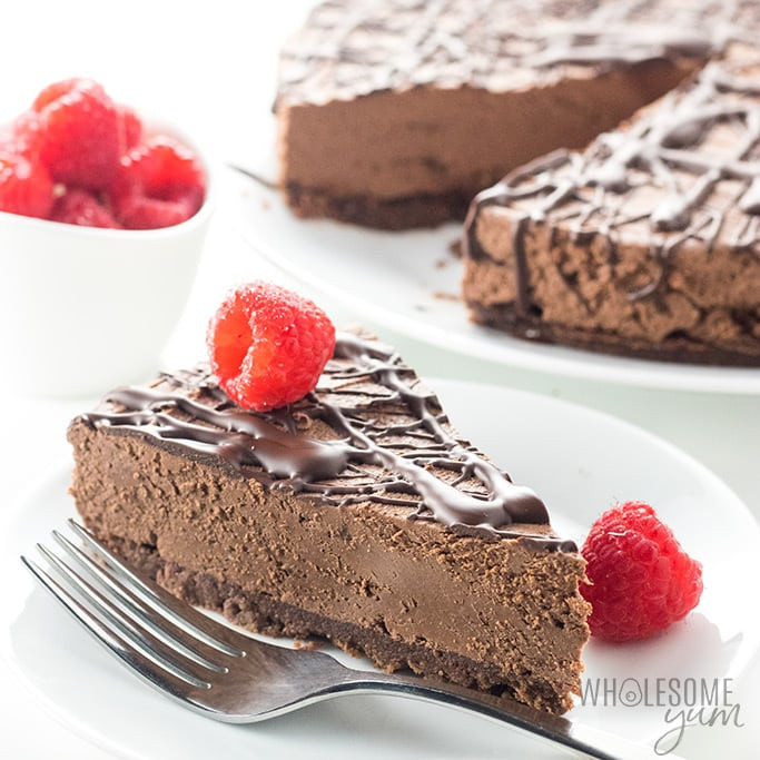 Keto Dessert Cheesecake  Keto Low Carb No Bake Chocolate Cheesecake Recipe VIDEO