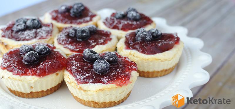 Keto Dessert Cheesecake  Keto Cheesecake Tarts – Keto Krate Blog