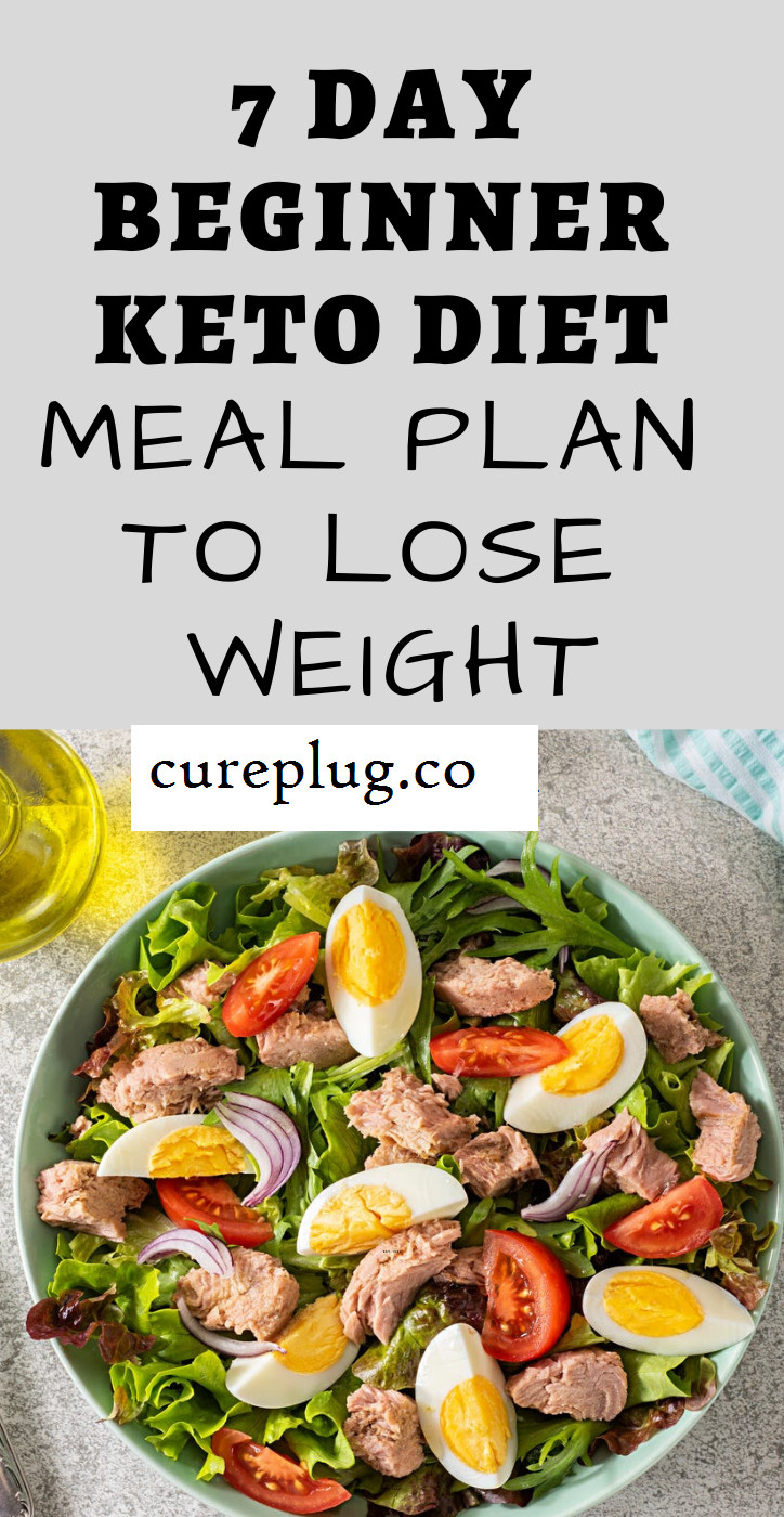 Keto Diet For Beginners Losing Weight Breakfast  7 Day Beginner Keto Diet Meal Plan to Lose Weight Cure Plug