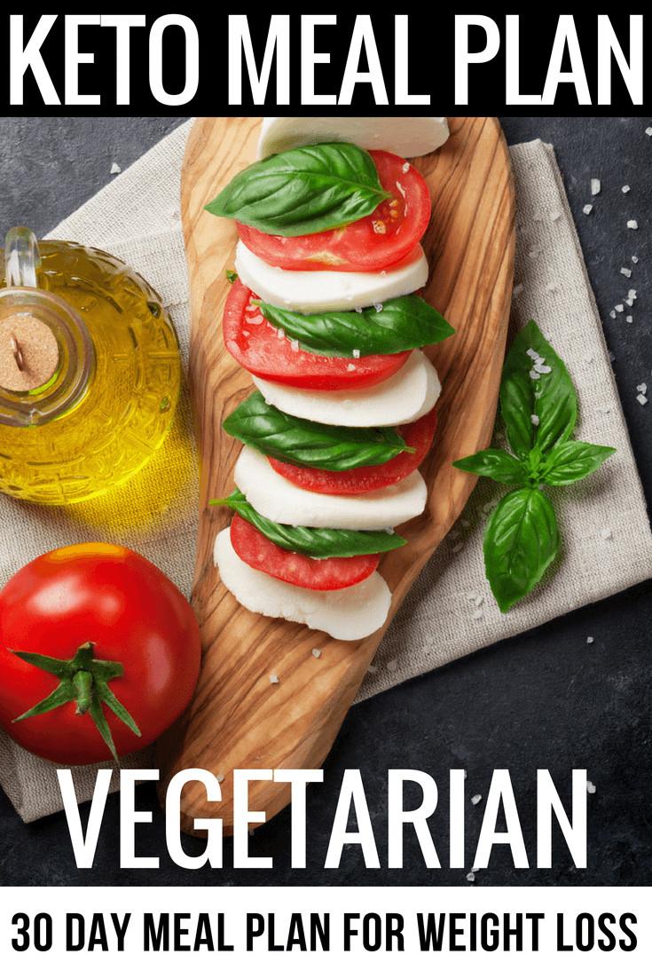 Keto Diet For Beginners Meal Plan Vegetarian  Ve arian Keto Diet 30 Day Meal Plan 90 Ketogenic