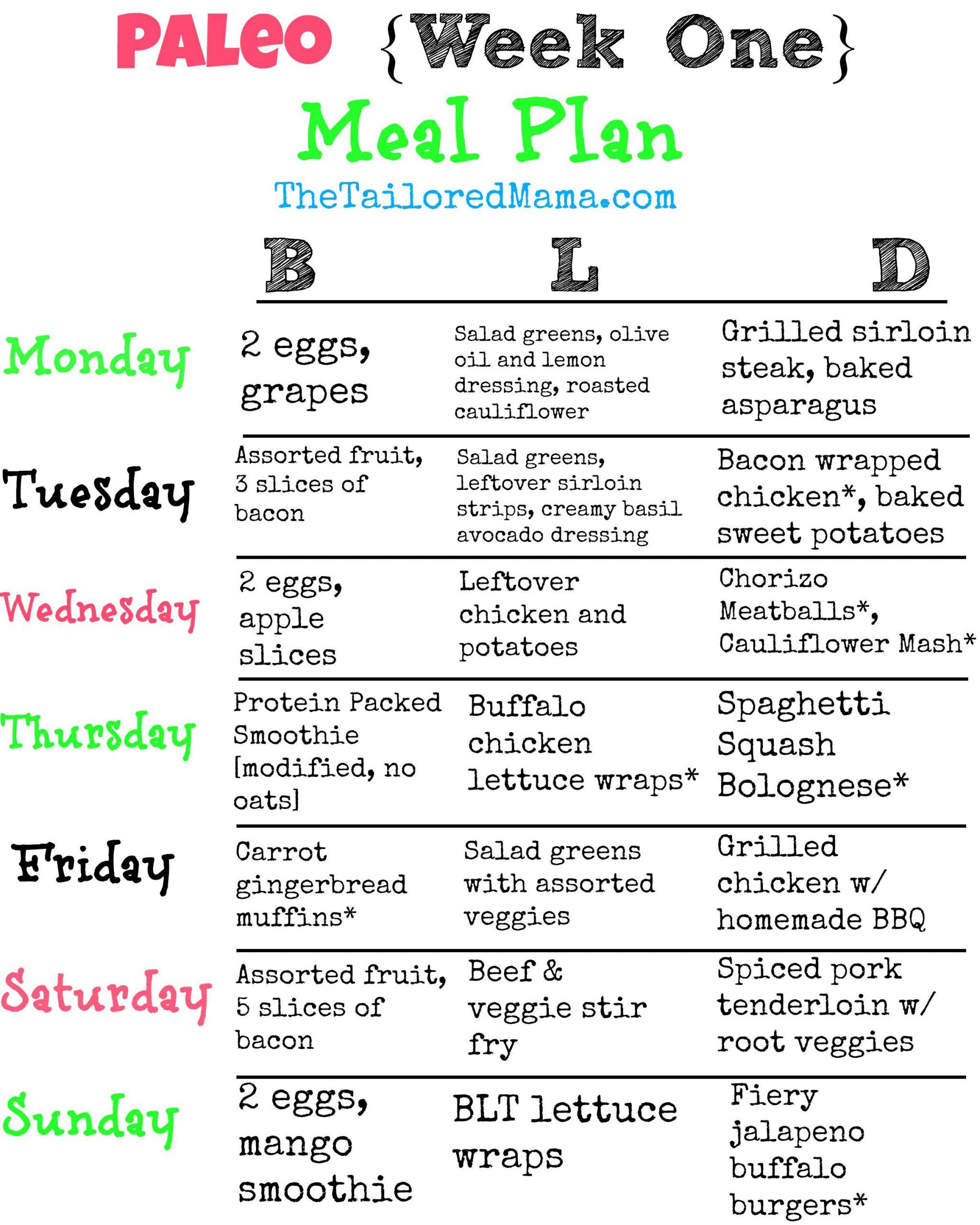 Keto Diet For Beginners Week 1 Meal Plan Easy  Paleo Week e Meal Plan