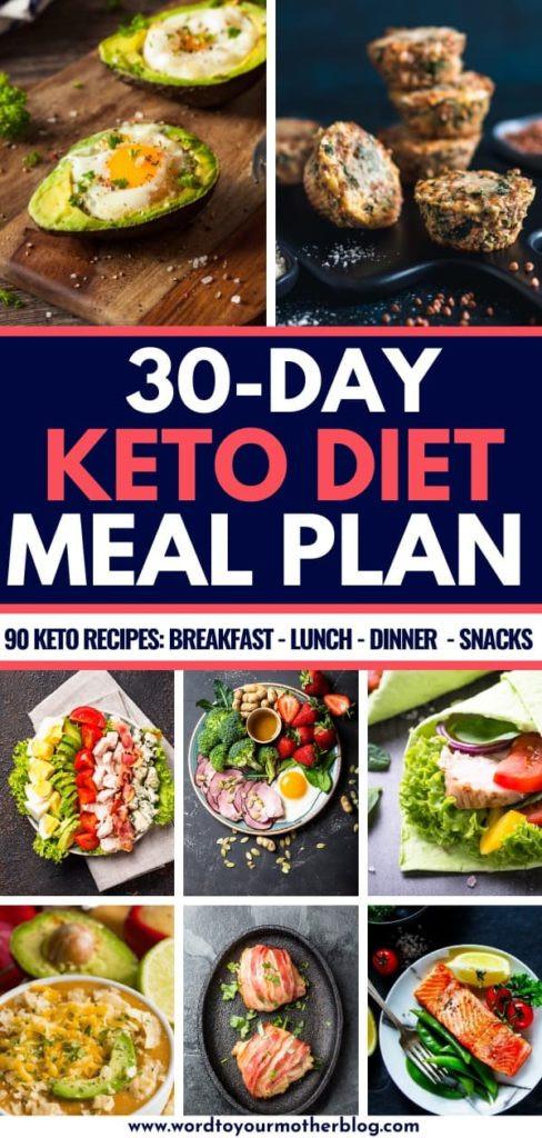 Keto Diet For Beginners Week 1 Meal Plan Printable  90 Easy Keto Diet Recipes For Beginners Free 30 Day Meal Plan