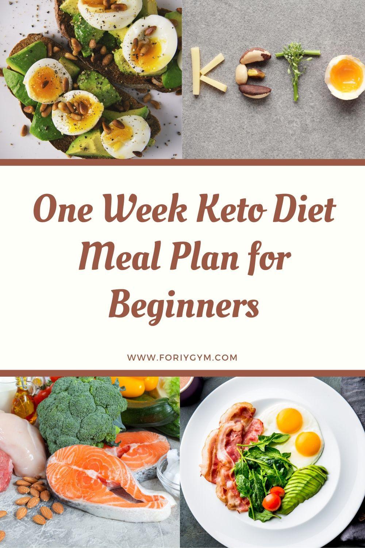 Keto Diet For Beginners Week 1 Meal Plan Printable  e Week Keto Diet Meal Plan for Beginners ForiyGym