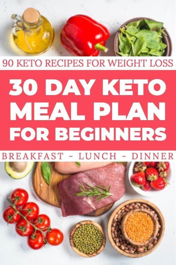 Keto Diet For Beginners Week 1 Meal Plan Printable  90 Easy Keto Diet Recipes For Beginners Free 30 Day Meal