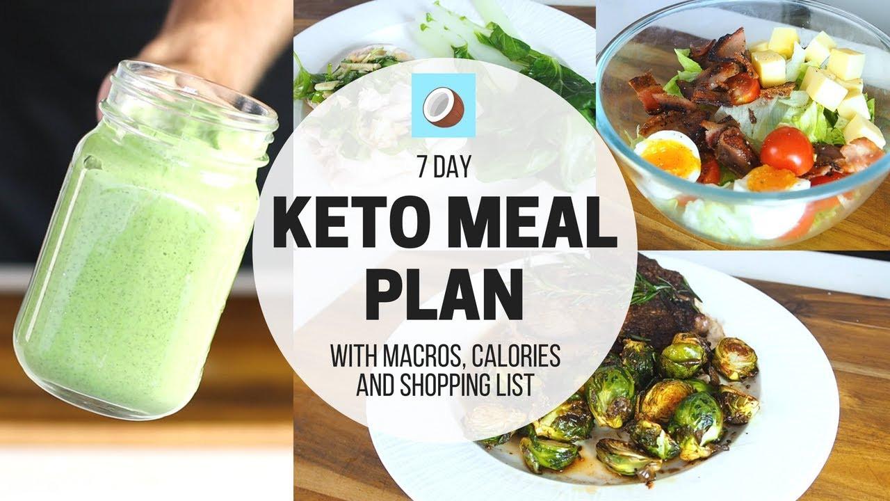 Keto Diet For Beginners Week 1 Meal Plan Printable  KETOGENIC DIET Meal Plan 7 DAY FULL MEAL PLAN for