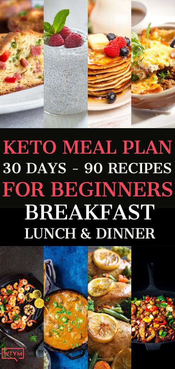 Keto Diet For Beginners Week 1 Meal Plan Recipes  90 Easy Keto Diet Recipes For Beginners Free 30 Day Meal