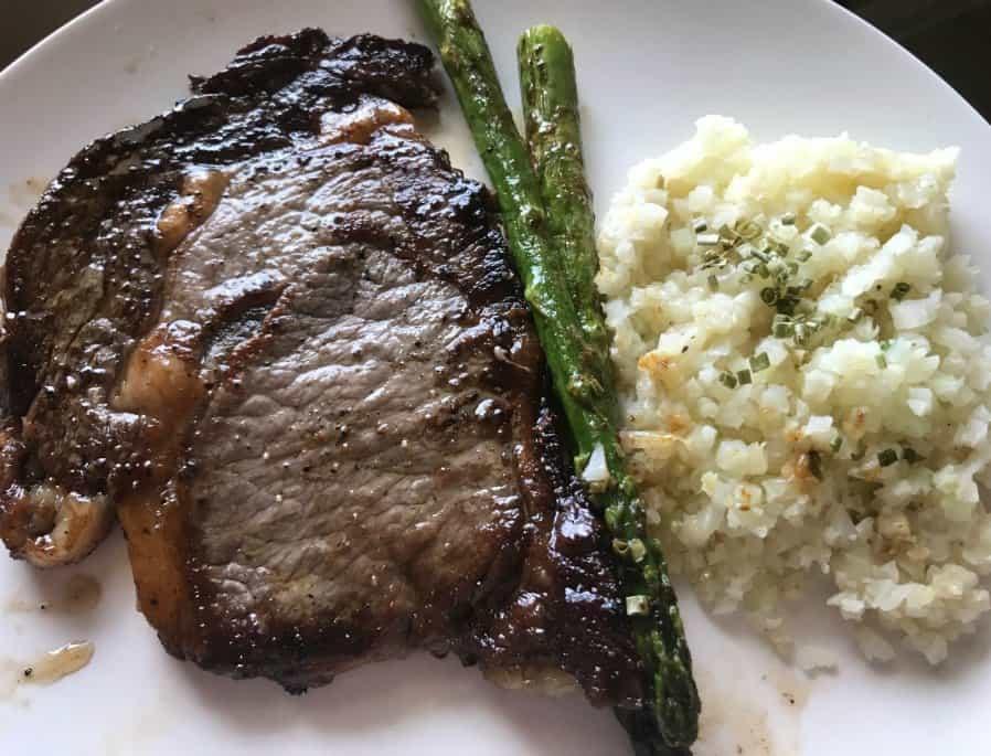 Keto Dinner Recipes Beef Steak  Keto Friendly Quick Dinner Idea Ribeye Steak Riced