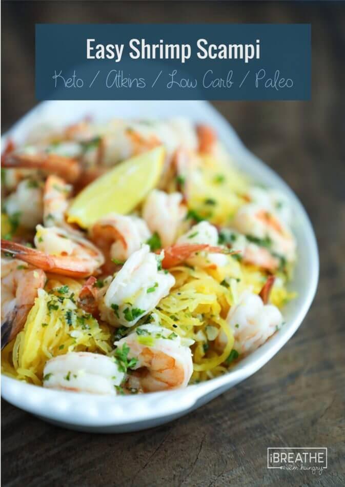 Keto Dinner Recipes Shrimp  Easy Keto Shrimp Scampi Low Carb & Paleo