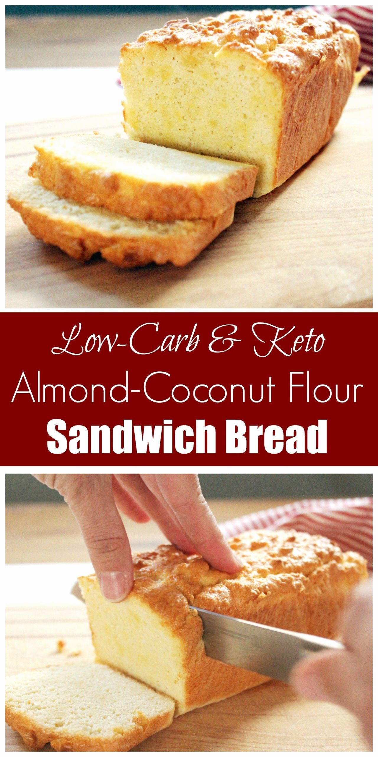 Keto Sandwich Bread Coconut Flour  Coconut Flour Bread Machine Recipe in 2020