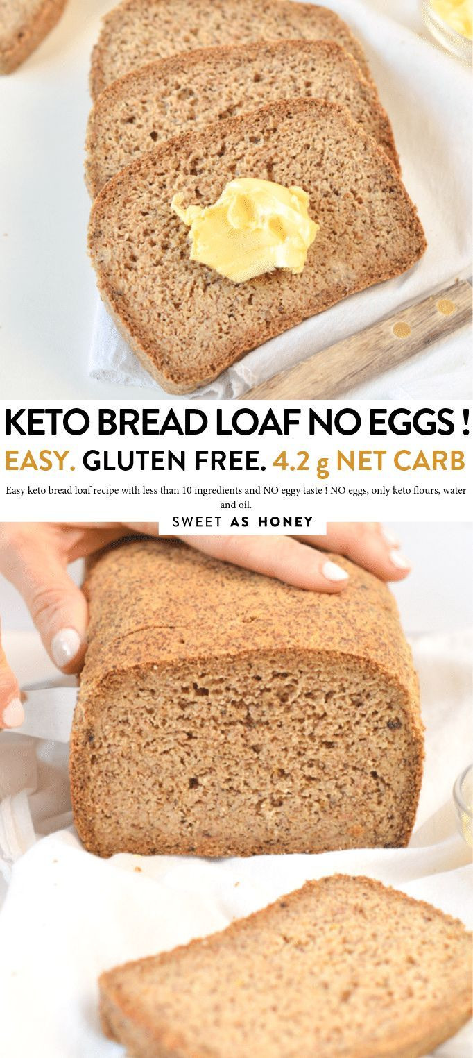 Keto Sandwich Bread Coconut Flour  Keto bread loaf No Eggs Low Carb with coconut flour