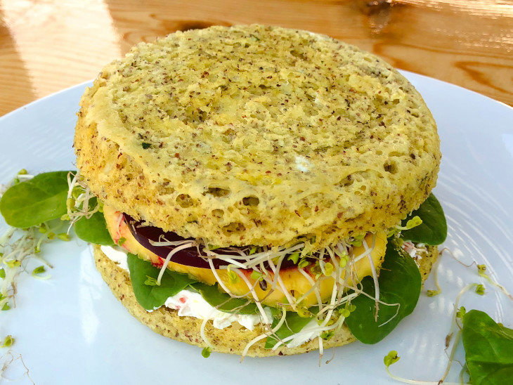 Keto Sandwich Bread Microwave  Easy Keto Microwave Bread Clean Eating 90 10 Nutrition