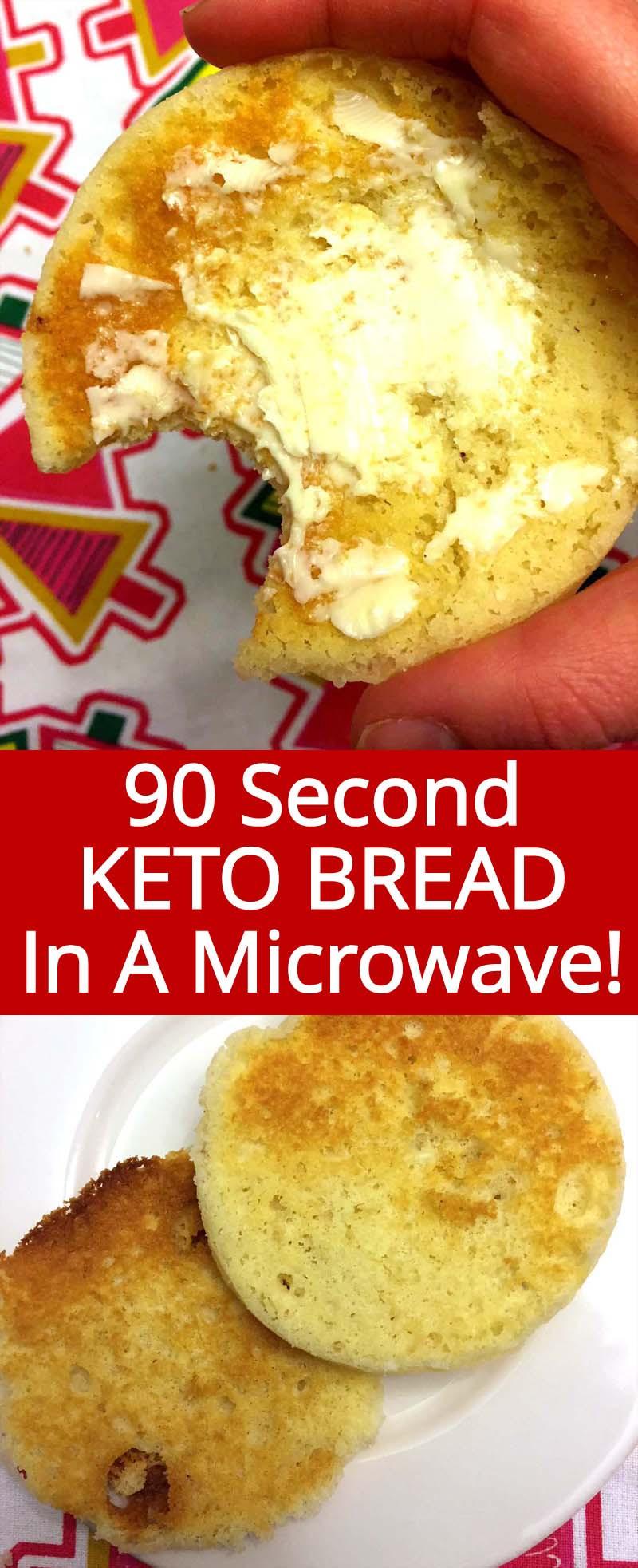 Keto Sandwich Bread Microwave  Keto Bread In A Mug With Almond Flour – Microwave Recipe