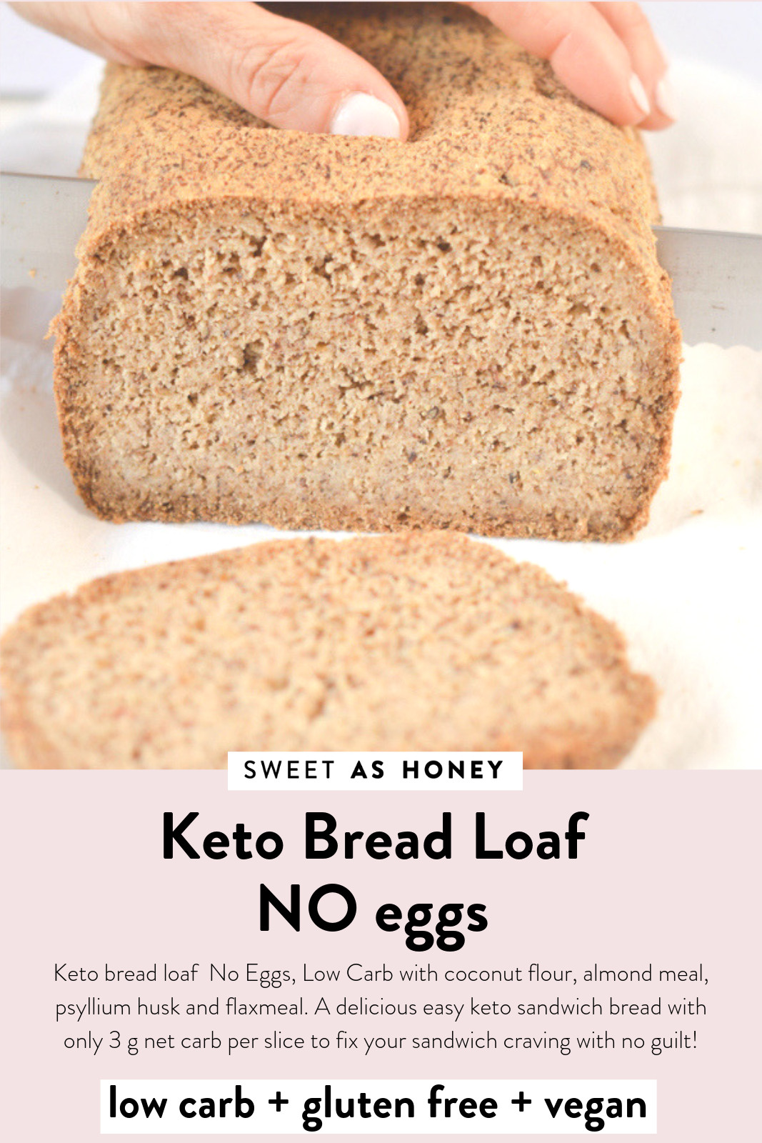 Keto Sandwich Bread No Egg  Keto bread loaf No Eggs Low Carb with coconut flour