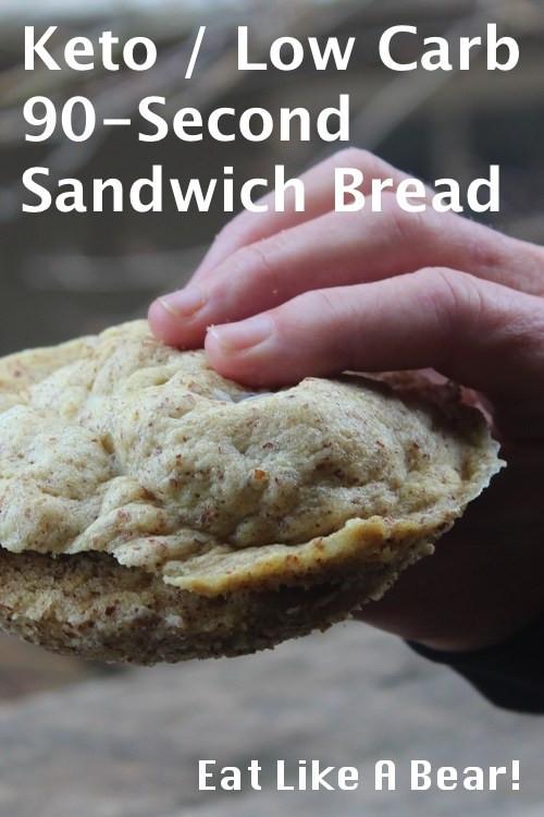 Keto Sandwich Bread Rolls  Low Carb Keto Bread 90 Second Sandwich Roll Eat Like