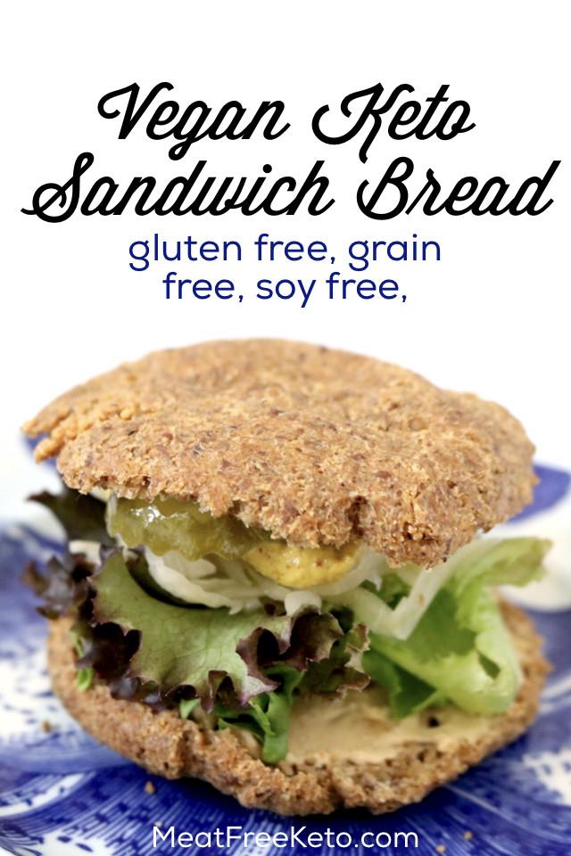 Keto Sandwich Bread Rolls  Low Carb Vegan Sandwich Bread soy free grain free