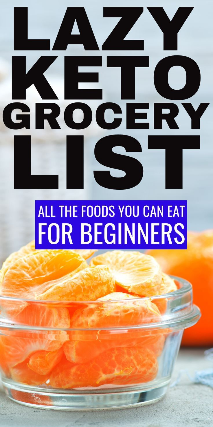 Lazy Keto Diet For Beginners  Lazy Keto Grocery List with keto food lists for beginners