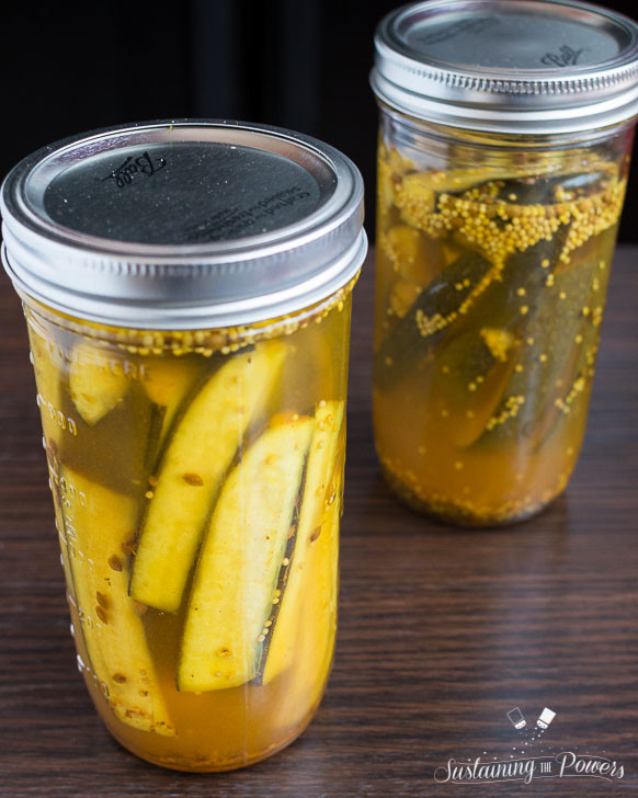 Low Carb Bread And Butter Pickles  Sugar free Bread and Butter Zucchini Fridge Pickles
