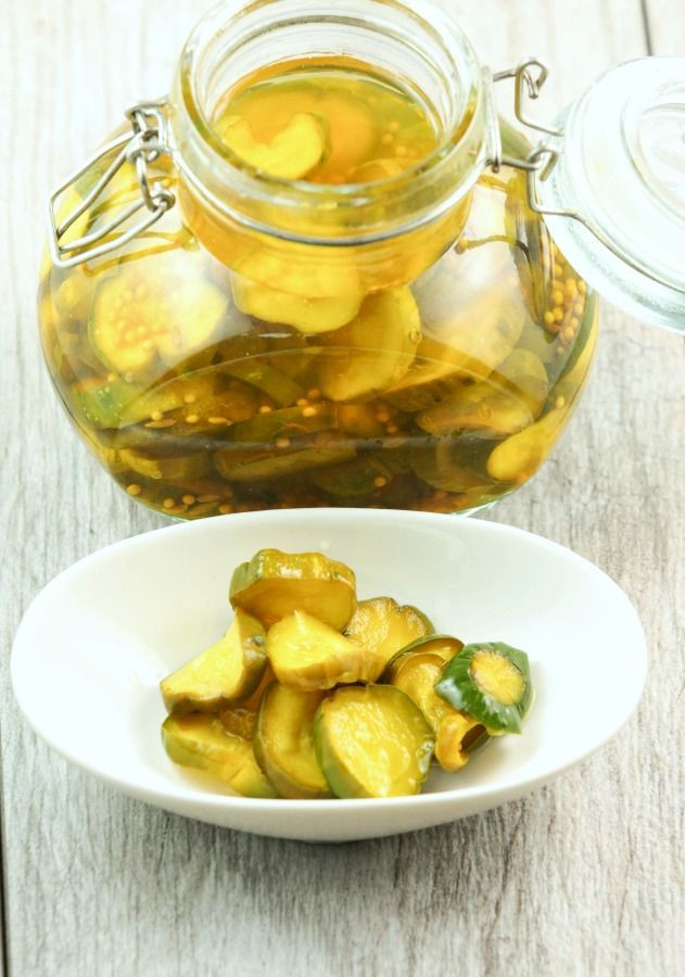 Low Carb Bread And Butter Pickles  No Sugar Added Bread and Butter Pickles Recipe